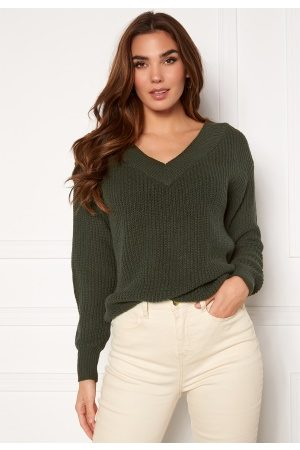ONLY Melton Life L/S V-Neck Pullover Forest Night M