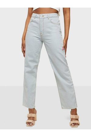SELECTED Dame Straight - Slfkate Hw Bright Blue Straight Jea