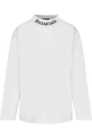 Balenciaga Neck Logo Long Sleeve T-Shirt