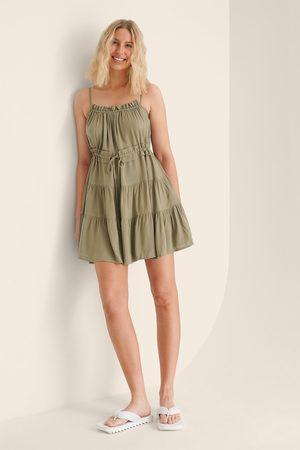 Trendyol Dame Strandkjoler - Ruffle Pleated Mini Dress