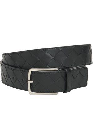 Bottega Veneta Herre Belter - 3.5cm New Intreccio Buckle Leather Belt