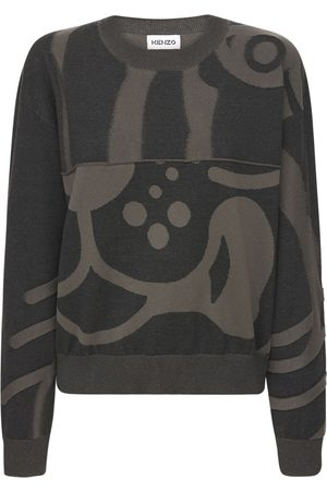 Kenzo K-tiger Intarsia Cotton Knit Sweater