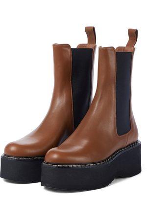 PARIS TEXAS Dame Skoletter - Exclusive to Mytheresa – Leather platform Chelsea boots