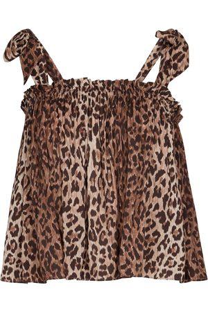 RIXO London Dame Singleter - Pamala leopard-print camisole