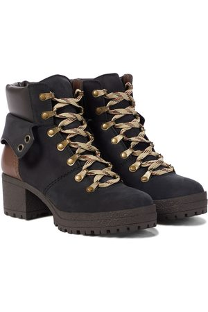 Chloé Dame Skoletter - Eileen leather and suede hiking boots