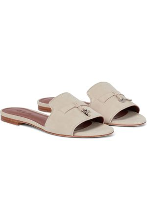 Loro Piana Exclusive to Mytheresa – Summer Charms suede slides