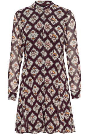 Scotch & Soda Printed Dress Knelang Kjole Brun