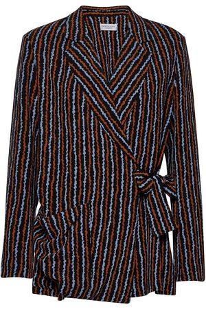 Hofmann Copenhagen Sylvie-Blue Haze Print Blazers Casual Blazers