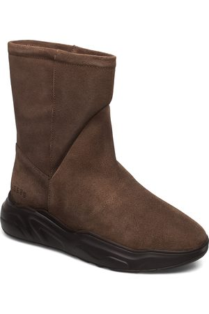 Gram Dame Skoletter - 558g Boot Walnut Suede Shoes Boots Ankle Boots Ankle Boot - Flat