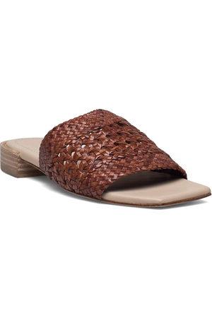 Cala Jade Lou Shoes Summer Shoes Flat Sandals Brun
