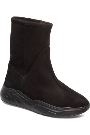 Gram 558g Boot Black Suede Shoes Boots Ankle Boots Ankle Boot - Flat
