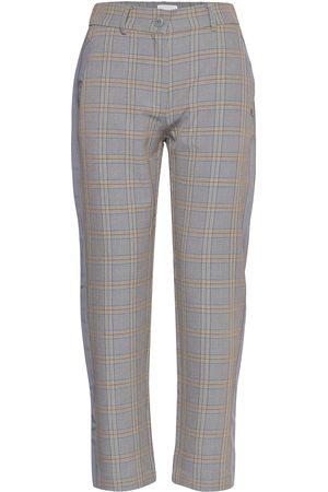 Coster Copenhagen Dame Slengbukser - Pants In Check W. Wide Piping Bukser Med Rette Ben
