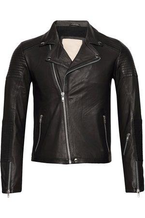 Revolution Herre Skinnjakker - Sheep Leather Jacket With With Biker Details Skinnjakke Skinnjakke