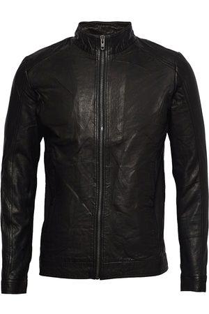 Revolution Sheep Leather Jacket With Slim Fit And Two Pockets Skinnjakke Skinnjakke