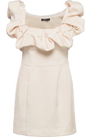 Gina Tricot Juniper Dress Kort Kjole Creme