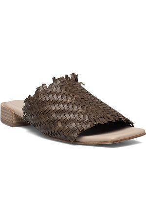 Cala Jade Piaf Shoes Summer Shoes Flat Sandals Brun