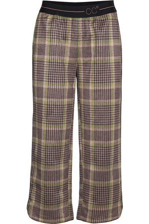 Coster Copenhagen Pants In Checked Scuba W. Cc Logo W Vide Bukser Brun