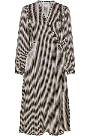 Second Female Ed Ls Wrap Dress Knelang Kjole