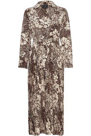 SELECTED Slfzuri-Florenta Ls Aop Ankle Dress Dresses Everyday Dresses Grå