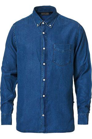NN.07 Herre Denim - Levon Tencel Denim Shirt Dark Indigo