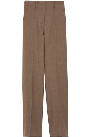 Burberry Dame Chinos - Wide-leg wool trousers