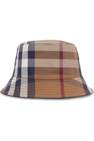 Burberry Herre Hatter - Check cotton-canvas bucket hat