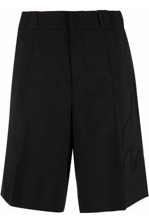 Valentino Herre Bermudashorts - Garden floral-embroidered shorts