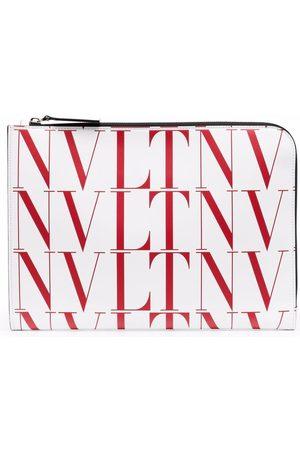 VALENTINO GARAVANI VLTN logo-print clutch bag