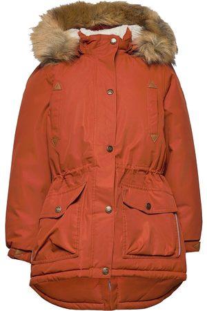 Mikk-Line Twill Nylon Girl Parca Outerwear Snow/ski Clothing Snow/ski Jacket Oransje