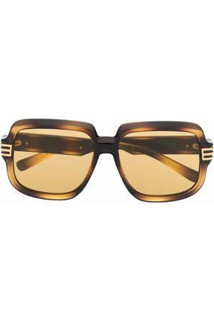 Gucci Solbriller - Tortoiseshell oversized-frame sunglasses