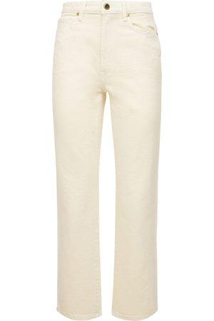 Khaite Dame High waist - Abigail High Waist Straight Crop Jeans