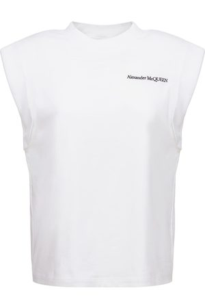 Alexander McQueen Cotton Jersey Logo T-shirt