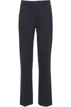 Lanvin Cropped Wool & Cotton Pants