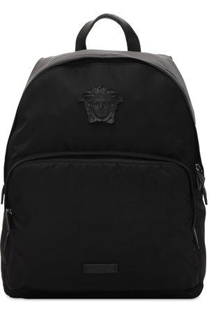 VERSACE Nylon Backpack W/ Medusa