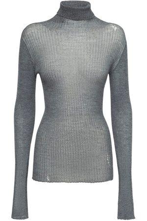 Maison Margiela Wool Knit Rib Turtleneck Sweater