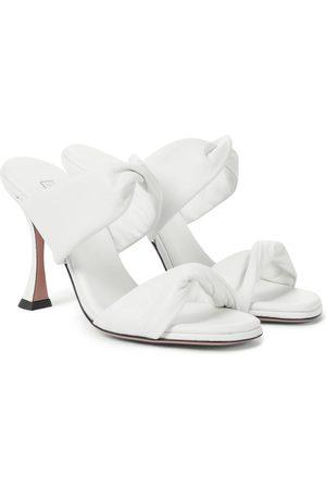 Aquazzura Twist 85 leather sandals