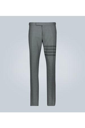 Thom Browne Herre Chinos - 4-Bar School Uniform wool pants