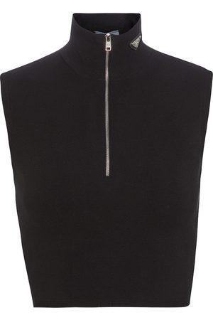 Prada Ribbed-knit crop top