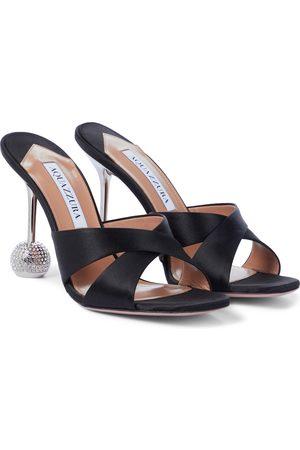 Aquazzura Yes Darling 95 satin sandals