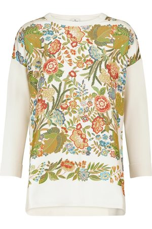 Etro Floral silk and wool-blend sweater