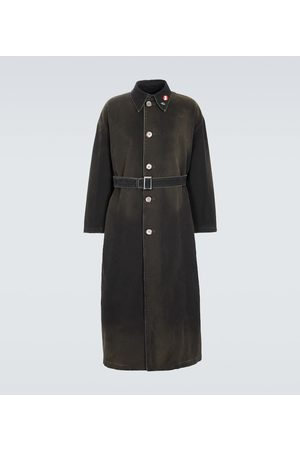 RAF SIMONS Belted cotton trench coat