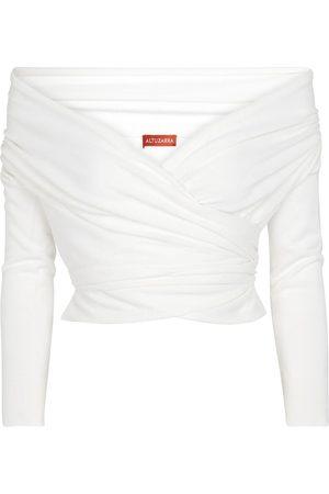 Altuzarra Crawley off-shoulder wrap sweater