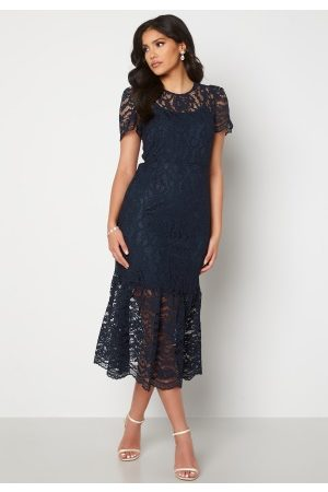Happy Holly Dame Midikjoler - Taylor occasion lace dress Dark blue 34