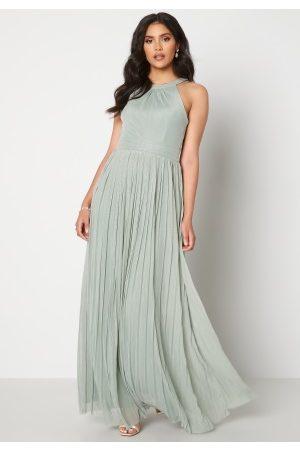 Moments New York Dame Festkjoler - Linnea Pleated Gown Jade-green 40