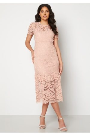 Happy Holly Dame Midikjoler - Taylor occasion lace dress Light pink 34