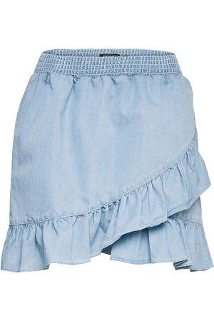 French Connection Aves Chambray Mini Skirt Kort Skjørt Blå
