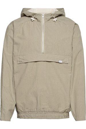 Les Deux Marco Seersucker Anorak Outerwear Jackets Anoraks Grå