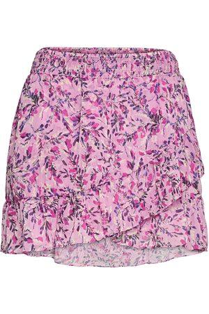 French Connection Flores Crinkle Mini Skirt Kort Skjørt Rosa