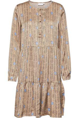 Coster Copenhagen Dress In Sprout Print Kort Kjole Brun