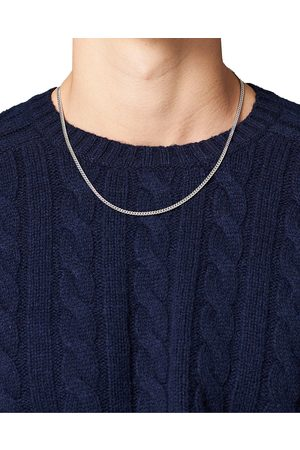 TOM WOOD Herre Halskjeder - Curb Chain M Necklace Silver